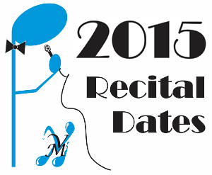 2015 Recital Dates